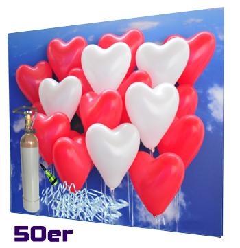 Ballons-zur-Hochzeit-Helium-Mehrweg-Set-mit-50-roten-und-weissen-Herzballons
