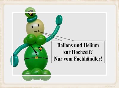 Ballons und Helium zur Hochzeit? Nur vom Fachhändler!