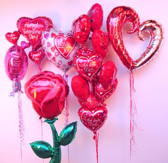 Folienballons: Boten der Liebe