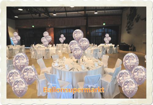 Ballons Hochzeit: Mr. & Mrs.