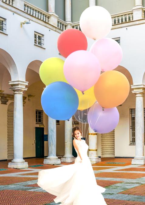 riesige Ballons zur Hochzeit